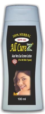 All Curez Aloe Vera Sun Screen Lotion - SPF 50 PA++