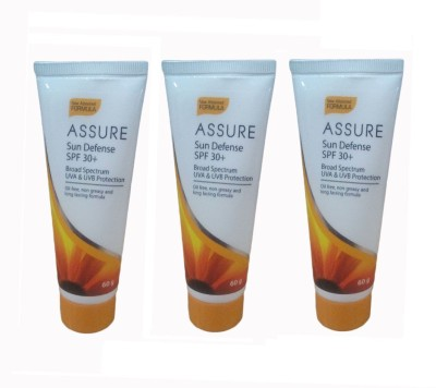Assure Sunscreen Lotion (Pack Of 3) - SPF 30+ PA+++