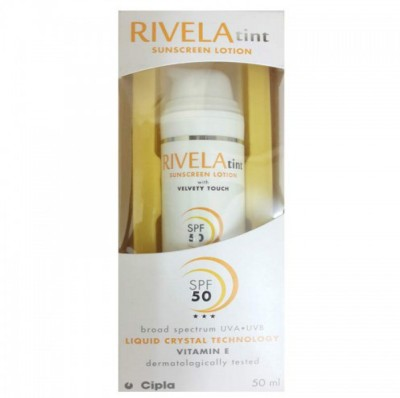 Rivela Tint Sunscreen Lotion - SPF 50 PA+++