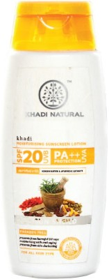 Khadi Natural Moisturising Sunscreen Lotion - SPF 20 PA++(120 ml)
