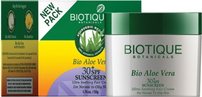 Biotique Bio Aloe Vera (30t SPF Sunscreen For Normal To Oily Skin in The Sun 50 gm) - SPF 30 PA+