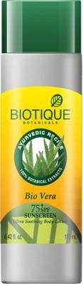 Biotique Bio Vera 190ml (Aloe Vera Face & Body Sun Lotion SPF 75) - SPF 75 PA+