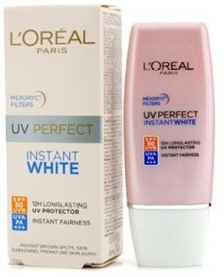 LOreal Paris Uv Perfect Instant White Protect Longlasting to 12hrs Spf 50+ Uvb, Uva Pa++++ 30ml - SPF 50 PA+++(30 ml)