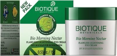 Biotique BIO Morning Nectar Flawless Lightening Eye Cream SPF- 30UVA/UVB- 15 GM - SPF 30 PA+