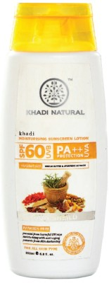 Khadi Natural Moisturising Sunscreen Lotion - SPF 60 PA++(200 ml)