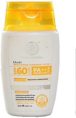 khadi Natural Moisturising Sunscreen Lotion - SPF 60 PA++