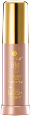 Lakme 9 To 5 Hydrating Super Sunscreen Lotion - SPF 50 PA+++