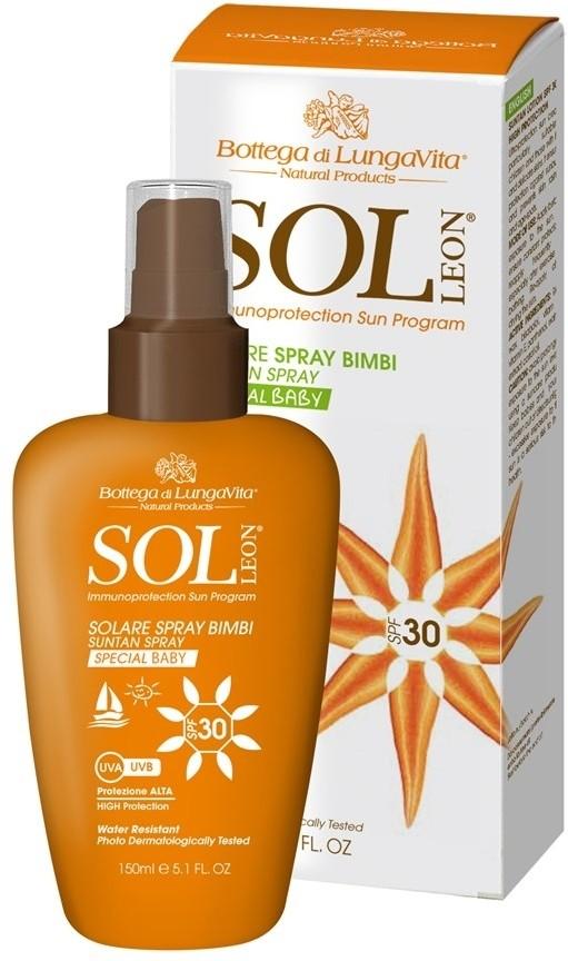 Bottega di Lungavita Sol Leon Suntan Spray Special Baby - SPF 30 PA+(150 ml)