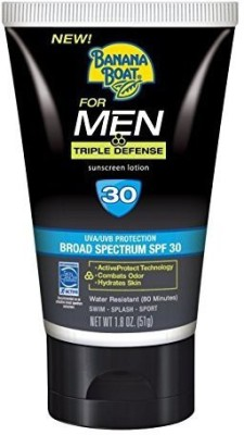 Banana Boat Boat for Men Triple Defense SPF 30, 2 Ounce (2 Pack) - SPF 30 PA+(56 g)