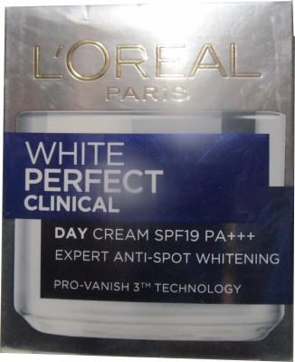L ,Oreal Paris White Perfect Clinical Day Cream SPF19 - SPF 19 PA+++