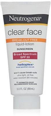 Neutrogena Clear Face Sunblock Lotion - SPF 30