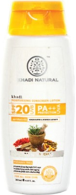 Khadi Natural Moisturising Sunscreen Lotion - SPF 20 PA++(200 ml)