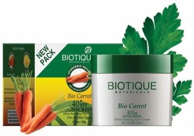 Biotique Bio Carrot Face & Body Sun Cream - SPF 40