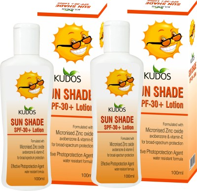 Kudos Sun Shade Lotion Ayurvedic & Herbal X2 Pack - SPF 30 PA+