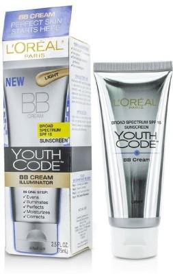 L,Oreal Paris Youth Code BB Cream Illuminator - SPF 15 PA+++