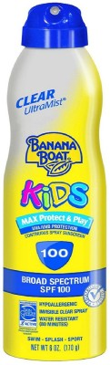 Banana Boat Ultramist Kids Max Protect & Play Clear Spray Sunscreen - SPF 110 PA+