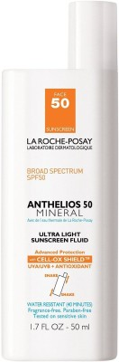 La Roche-Posay Anthelios 50 Mineral Ultra Light Sunscreen Fluid for Face, Water Resistant with SPF 50 - SPF 50 PA+