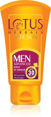 Lotus SAFE SUN Men Advanced Daily UV Shield - SPF SPF30 PA+++