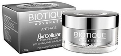 Biotique Advanced Bxl Cellular Protection Cream Spf 30 Uva/Uvb Sunscreen For Normal To Oily Skin - SPF 30 PA+