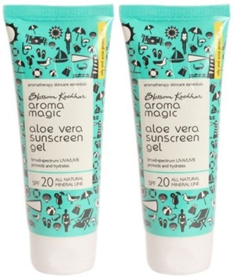 Aroma Magic Aloe Vera Sun Screen Gel - SPF 20 PA++(200 g)