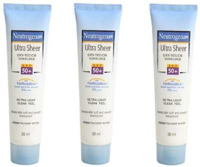 Neutrogena Neutrogena Ultra Sheer Dry Touch Sunblock (Pack of 3) - SPF 50 PA+++