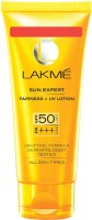 Lakme Sun Expert Fairness UV Sunscreen Lotion - SPF 50 PA+++(100 ml) best price on Flipkart @ Rs. 435