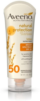 Aveeno Natural Protection Broad Spectrum Spf 50 Suncreen Lotion - SPF 50 PA+(85 g)