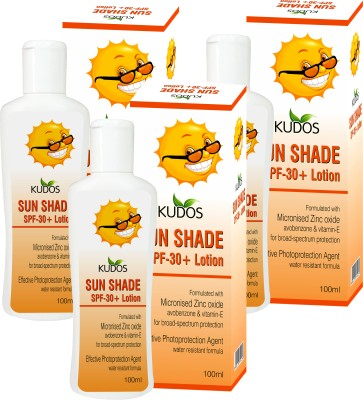 Kudos Sun Shade Lotion Ayurvedic & Herbal X3 Pack - SPF 30 PA+