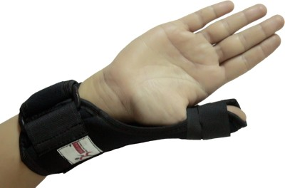 Healcure Wrist Thumb Support (Free Size, Black)