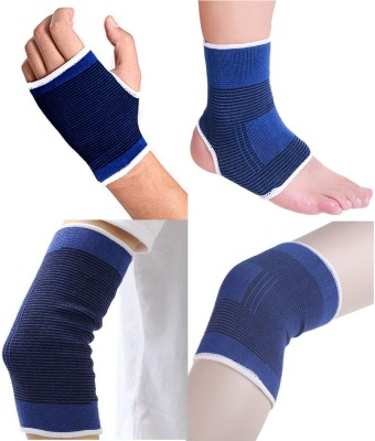 MLS Knee Palm, Elbow & Ankle Support (Free Size, Blue)