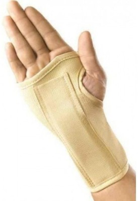 Neutral Supports Elastic Wrist Splint Wrist Support (L, Grey)