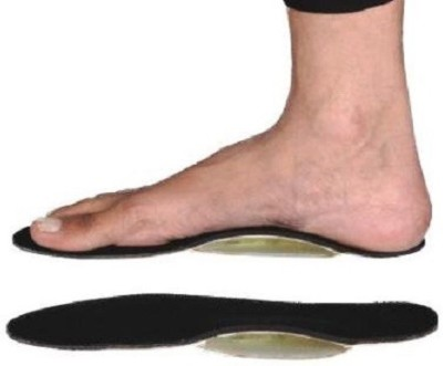 Mediexchange Foot Insole With Gel Arch Large Foot Support (L, Black)