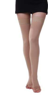 ONTEX Cotton Compression Stockings Thigh Support (M, Beige)