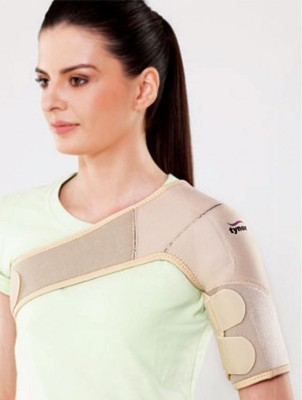 Tynor (Neoprene) Universal Shoulder Support (Free Size, Beige)