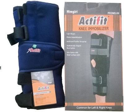 ACTIFIT KNEE IMMOBILIZER Knee, Calf & Thigh Support (XL, Blue)