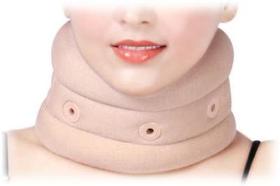 D4 Rehabilitation Cervical Collar Soft Eyelet Neck Support (L, Blue, Brown)
