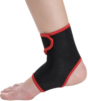 Kamachi ANKLE SUPPORT with strap, Ankle Support (Free Size, Black)