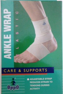 Oppo 2101 Elastic Wrap Ankle Support (Free Size, Beige)