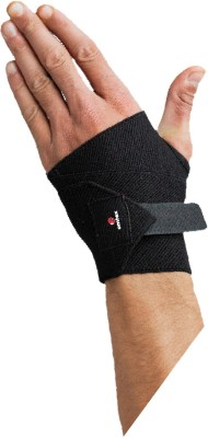 Omtex Elastic Hand Support (Free Size, Black)
