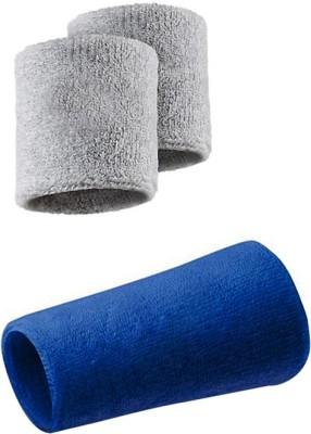 Verceys SportsBand Wrist Support (Free Size, Grey, Blue)