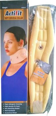 Actifit Premium Quality Soft Cervical Collar Belt Neck Support (L, Beige)
