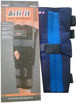 ACTIFIT KNEE IMMOBILIZER Knee, Calf & Thigh Support (M, Blue)