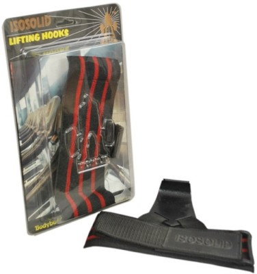 Iso Solid Lifting Hook Wrist Support (Free Size, Black)