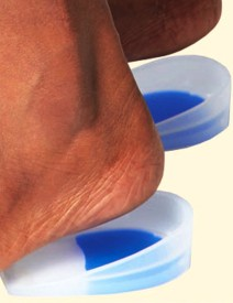 Apex Ortho Apex Heel Cup Silicon Foot Support (M, White)