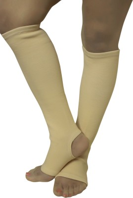 Healcure Vericose Vein Stockings Knee Support (XL, Beige)