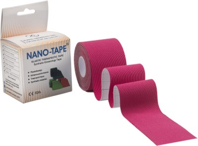 Nano-Tape Synthetic Kinesiology Knee, Calf & Thigh Support (Free Size, Pink)