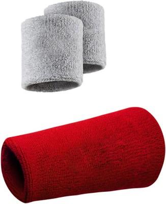 Verceys SportsBand Wrist Support (Free Size, Grey, Red)