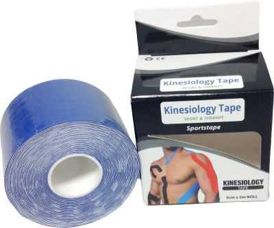 Prop It Up Kinesiology Tape Knee, Calf & Thigh Support (Free Size, Blue)