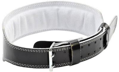 Adidas Adjustable Lumbar Leather Belt Back Support (L, Black)