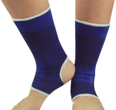 Fancy Steps Firm Compression Ankle Support (L, Blue)
